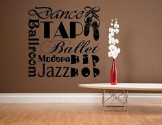 vinyl wall decal quote Dance subway style sports dancing ballet