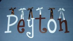 "12"" PERSONALIZED WALL LETTERS PAINTED CHILD ROOM DECOR ($11 for 2)"