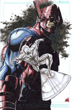 Original Comic Art titled Andie Tong - Silver Surfer & Galactus, located in INKINK's Andie Tong Comic Art Gallery Marvel Avengers, Marvel Comics, Marvel Comic Universe, Marvel Art, Marvel Heroes, Comics Universe, Marvel Comic Character, Comic Book Characters, Comic Book Heroes