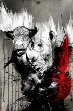 vaca y rinoceronte
