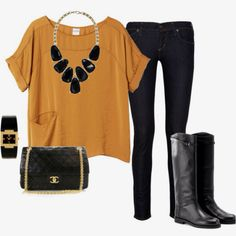 I like this outfit bc it's good for windy day or good colors for the fall!