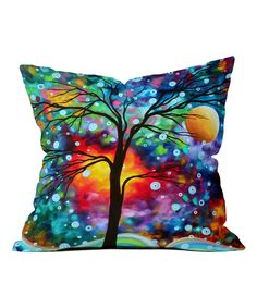 Look what I found on #zulily! Blue & Green Madart Inc. A Moment in Time Throw Pillow by DENY Designs #zulilyfinds