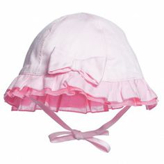 Baby Girls Pink Cotton Sun Hat