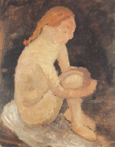 Paula Modersohn-Becker - Figurative Painting - German Expressionism - Seated Girl