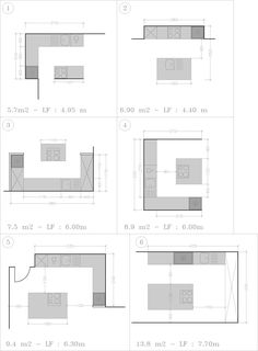 Open Kitchen Plan With Ilot Delphine Ertzscheid And L-shaped Kitchen Plan With . Green Kitchen, Kitchen Colors, Küchen In U Form, Kitchen Layout Plans, Kitchen Arrangement, L Shaped Kitchen, Küchen Design, Small Apartments, Interior Design Kitchen