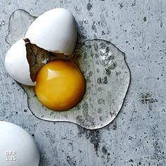 A fresh perspective on the cracked egg  by #offsetartist @kovenkin #eggs #stilllife #foodphotography #inthekitchen #closeup