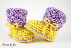 Ravelry: Celtic Dream Baby Boots pattern by Janaya Chouinard