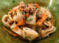 SQUID SALAD - A very popular dish in Thai Restaurants, I love the classic Thai ingredients. Very fresh and clean. This dish should be served immediately.  Get this recipe by clicking on the link below: http://ow.ly/eFYX301D9kM