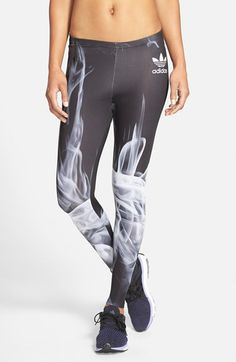 promo code 9886d 875af adidas  White Smoke  Leggings available at  Nordstrom Polainas Blancas, Los  Leggins No