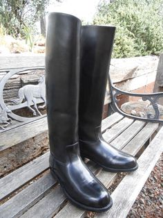 Men's Tall Leather Equestrian Riding Boots; US Size 11, 11.5 #CustomMade #RidingEquestrian