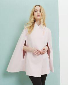 Manteau-cape en laine - Rose layette | blousons & manteaux | Ted Baker FR