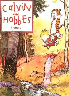 Calvin and Hobbes:Joyride by Bill Watterson, 1996 #Lithograph #Cartoon #Calvin_and_Hobbes