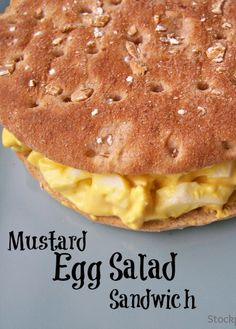Mustard Egg Salad Recipe - yummy lunch idea for packed lunches (you or the kids).