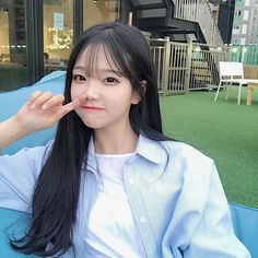 Ulzzang Korean Girl, Cute Korean Girl, Cute Asian Girls, Beautiful Asian Girls, Jung So Min, Girl Korea, Uzzlang Girl, Grunge Girl, Cute Makeup