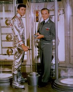 """""""Lost in Space"""" (1965-68)  Guy Williams as John Robinson, Jonathan Harris as Dr. Zachary Smith"""