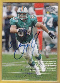 e970a8c51a2 zach thomas football card | 2008, Zach Thomas, Upper Deck, Miami Dolphins,  On Football Card .