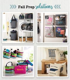 Thirty-One Gifts - Fall Prep Solutions! #ThirtyOneGifts #ThirtyOne #Monogramming… www.mythirtyone.ca/sk
