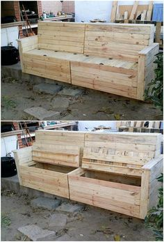 If you are looking for some simple and yet creative wood pallet sofa design, then why to search here and there when you have this image! Shaped in square designs, this wood pallet sofa is being manufactured with the simplicity. It is often giving out the impression taste of the storage spacing too.