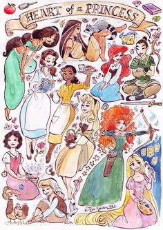 """Heart of a Princess"": Disney princesses are always depicted in their fancy ballgowns and their superficial beauty and wealth is glamorized, while other more valuable princess traits like kindness, perseverance, courage, generosity, thirst for knowledge etc. are, for the most part, ignored."