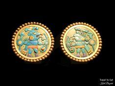 Ear Plugs, Moche (1-800 CE). Larco Museum, Lima