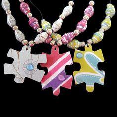 Puzzle Piece Jewelry  http://www.greenisuniversal-reuse.com/jewelry/puzzle-piece-jewelry