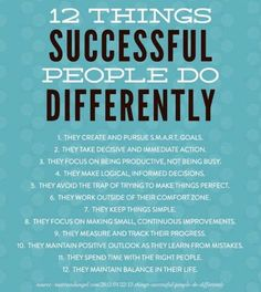12 Things successful people do differently  #binaryoptions #forex #onlinetrading #brokers #investment
