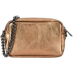 George J. Love Handbag (€33) ❤ liked on Polyvore featuring bags, handbags, clutches, bronze, metallic handbags, strap purse, metallic clutches, hand bags and handbags clutches