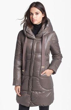 Elie Tahari 'Lisa' Hooded Down Coat available at #Nordstrom
