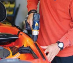 Learn how to install accessory tracks in hard to reach places on your fishing kayak.