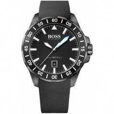 172d64e12f90 Men s Hugo Boss Deep Ocean Black Silicone Watch 1513229