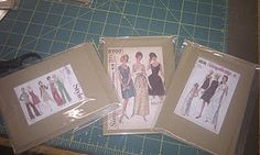 I love making these with vintage sewing patterns