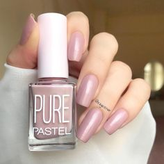Pastel Pure 607 We talked to nail-care experts to see exactly prior to buying be going after for you Acrylic Nail Designs, Nail Art Designs, Acrylic Nails, Pink Gel, Gel Nagel Design, Pastel Nails, Healthy Nails, Perfect Nails, Nail Polish Colors
