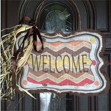 Welcome Burlap Decor