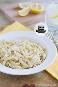 Lemon Pepper Fettuccine   Taste and Tell