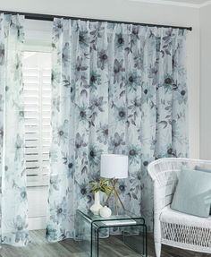 Seraphina Duck Egg : Custom made sheer curtains at CurtainStudio Duck Egg Curtains, Home, Building A New Home, Interior, New Homes, Custom Curtains, Designer Collection, Printed Shower Curtain, House Interior
