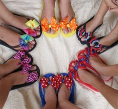 Bow Flip Flops with Matching Hair Bow by ShelbowsHairBows on Etsy, $13.00