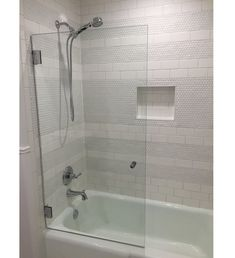 A Glass Warehouse frameless shower door can instantly make your bathroom look bigger and brighter, adding a fresh and modern feel yet having the versatility to complement any bathroom style. Bathtub Doors, Frameless Shower Doors, Glass Shower Doors, Shower Tub, Shower Rooms, Glass Bathtub Door, Bathtub With Glass Door, Rainfall Shower, Glass Doors