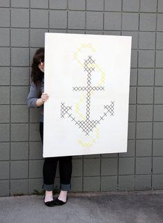 Giant Anchor Cross-Stitch. $200.00, via Etsy.