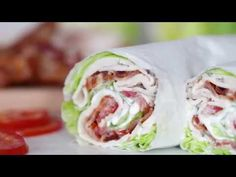 Chicken Club Lettuce Wrap Sandwich, a low-carb (keto) lunch idea that replaces a wheat wrap for a lettuce wrap. Just 5 ingredients, less than 10 minutes! Ww Recipes, Low Carb Recipes, Cooking Recipes, Healthy Recipes, Light Recipes, Dinner Recipes, Sandwiches For Lunch, Wrap Sandwiches, Low Carb Lunch
