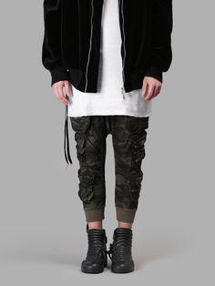 BEN TAVERNITI UNRAVEL PROJECT Parachutes Drop Crotch Pants. #bentavernitiunravelproject #cloth #trousers