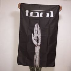 Tool Band Banner 21st Anniversary Edition of Opiate Flag Eye In Hand Logo Concert Tour Wall Tapestry