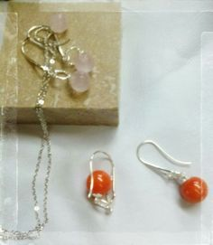 These gorgeous Gemstone drop earrings are from the very talented Fay's Stall.