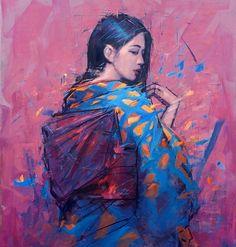 3,901 отметок «Нравится», 57 комментариев — Jamel Akib (@jamel_akib) в Instagram: «'Blue Kimono on Pink' 36 inches by 28inches. oil on canvas.»