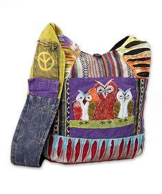 Purple Patchwork Owls Hobo