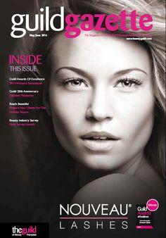 May/ June 2014 Guild Gazette with Nouveau Lashes front cover.