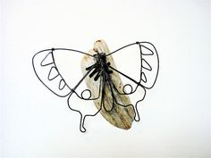 Butterfly Wire Sculpture by WiredbyBud on Etsy