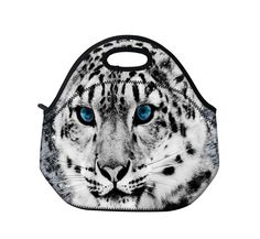 Snow Tiger Neoprene Travel Picnic Food Insulated Lunch Tote Handbag Cooler Bag #ColorfulCase #Lunchpicnicbag