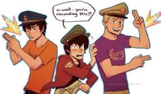 Aw PERCY, Nico and Jason