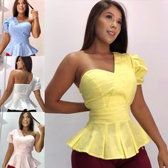 H M Outfits, Chic Summer Outfits, Dress Outfits, Fashion Dresses, Color Combinations For Clothes, African Tops, Casual Chique, Corsage, Classy Dress
