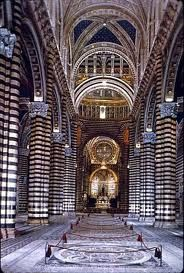 Il Duomo in Siena reminds me of a Zebra.  We toured it.